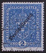 Austria 1918 196 Used; Dark blue