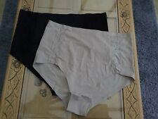 Rhonda Shear Lace Detail Pantys Black/Sandlewood Size 2XL
