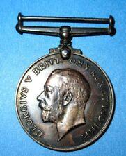 WWI Antique Silver British War Canadian INF Medal Original Ribbon 1914-1918