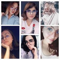 Fashion Glasses Transparent Frame Glasses Eyewear Accessories For Men Women
