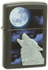 HOWLING WOLF 3D DESIGN ZIPPO LIGHTER 28879 Genuine 100% UK NEW BOXED