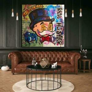 Alec Monopoly Graffiti Art Money Paintings On The Wall Art Canvas Posters SALE