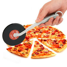 Top Spin Record Player Fresh Slice Pizza Wheel Cutter Creative Kitchen Bar tool