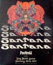 SANTANA 1977 LONG BEACH concert poster BILL GRAHAM BGP DAVID SINGER RANDY TUTEN