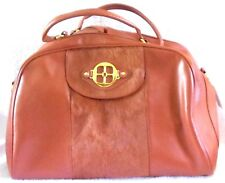 NEW IMAN GLOBAL CHIC Rust SOFT CARRY ON TRAVEL BAG