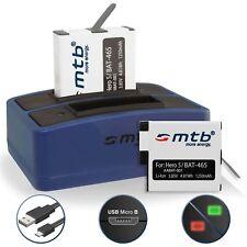 2x Bateria + Cargador doble AABAT-001 para GoPro Hero5 / GoPro Hero 5