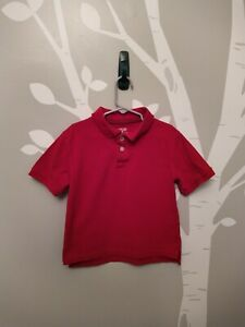 CHEROKEE Boys Polo Style Top Shirt Size XS Cotton Red short sleeve