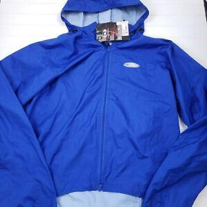 Louis Garneau mens cycling jacket blue packable microair 1000 1030053 medium NWT