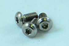 Five (5) Titanium Alloy Grade 5 M3x0.5 6mm Button Head Socket Cap Screws