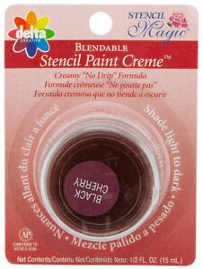 Delta Stencil Magic Blendable Oil Based Stencil Paint Creme Black Cherry Color