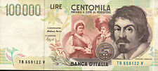BANCONOTA DA 100000 LIRE - Caravaggio II tipo FAZIO - SPEZIALI  (7)