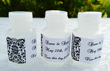 120 DAMASK MINI BUBBLE LABELS/stickers Personalized for WEDDING or Party FAVORS!