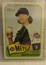2014 TOPPS HERITAGE UPDATE REAL ONE AUTOGRAPH AUTO JACOB DEGROM ROOKIE RC METS