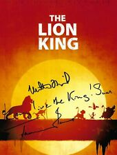 Matthew Broderick & Jeremy Irons Signed 10x8 Photo - The Lion King - Disney RARE