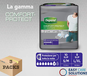 Depend Comfort Protect for Men L/XL - 3 Packs of 9 Incontinence Pants - Total 27