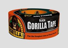 NEW Gorilla Duct Tape 1.88in. W x 12yd. L Black Tough Reinforced Backing 4595542
