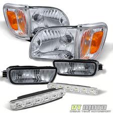For 2001-2004 Tacoma Headlights Corner Turn Parking Signal Lamps+Smd Bumper Fog