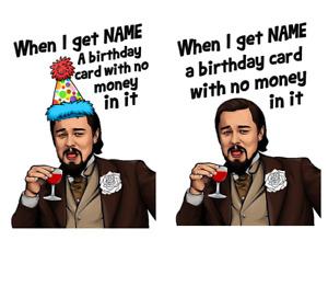 Personalised Leonardo DiCaprio Meme Joke/Parody/Twitter Birthday Card