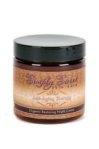 ANTI AGING NIGHT CREAM Moisturizer Organic Skin Care Wrinkle Vegan Firm Lotion