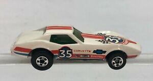 Vintage Mattel Hot Wheels 1975 Blackwall Corvette Stingray 35th Anniv. Firestone