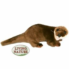 OTTER - LIVING NATURE SOFT FLUFFY CUDDLY STUFFED TEDDY PLUSH REALISTIC TOY