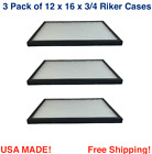 3 Pack of 12 x 16 x 3/4 Riker Display Cases Boxes for Collectibles Jewelry &More