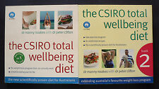 THE CSIRO TOTAL WELLBEING DIET - BOOKS 1 AND 2.