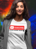 CUSTOM YOUTUBE PROMO T-SHIRT Personalized message Channel social media videos