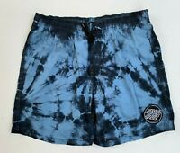 Santa Cruz Men's Blue Tie Dye Drawstring Shorts Size L Cotton