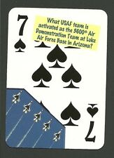 USAF Thunderbirds Air Demonstration Luke Air Force Base Neat Playing Card #3Y5