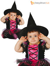 Childs Baby Witch Costume Toddler Halloween Fancy Dress Kids Witches Outfit