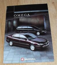 Vauxhall Omega Brochure 1995 Edition S Select GLS CD CDX Elite 2.5 3.0 V6 24v TD
