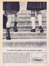 PUBLICITE ADVERTISING 1965 035 COLLEGIEN chaussettes pour enfants