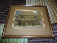 Vintage Charles Dickens Old Curiosity Shop Immortalised Art Print Framed