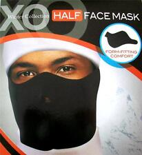 Black Neoprene Ski Mask Half Face Cover Winter Sports Bikers