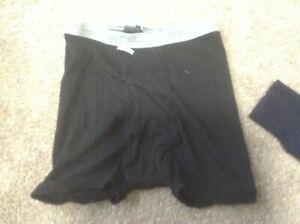 sz lg  14-16 boys hanes boxer briefs black new nwt  underwear
