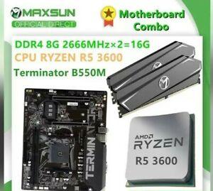 MAXSUN Motherboard Combo Challenger A520M RAM 2pcs x 8GB CPU Ryzen 5 3500X