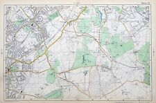 LONDON, 1906 - SOUTH NORWOOD, WEST WICKHAM - Original Antique Map, Bacon.