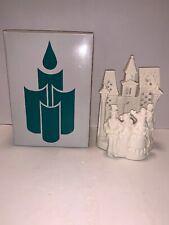 PartyLite White Porcelain Christmas Village Carolers Tea Light Candle Holder 8�