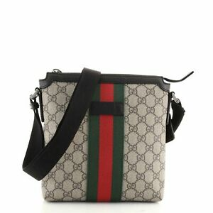 Gucci Web Messenger Bag GG Coated Canvas Small