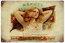 Nostalgic Beauty Cigar Tobacco Sign Garage Art