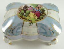 Vintage ESD Japan Porcelain Trinket Cigarette Box