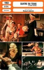 FICHE CINEMA : QUATRE DU TEXAS - Sinatra,Martin,Ekberg,Aldrich 1963 4 for Texas