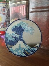 Great Wave Off Kanagawa Circle Car Vinyl Sticker - Laptop Skateboard