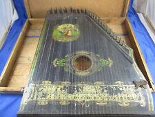 Zither Mandolin-Zither Zupfinstrument Harp Jugendstil Tracht Enzian Alpen Deko