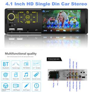 "Single Din Car Stereo Bluetooth 4.1"" Car MP5 Player Radio Receiver RemoteControl"