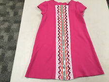 GYMBOREE  WILD FOR HORSES PINK ZIG ZAG SEQUIN SS KNIT DRESS  GIRLS   6