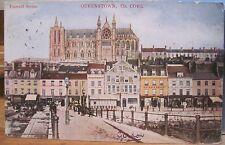 Irish Postcard Queenstown Cathedral Cobh Cork Ireland Emerald Series to Uk 1905