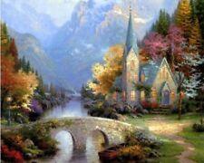 DoMyArt DIY Oil Painting, Paint By Number Kit - Exotic (Thomas Kinkade The Mount