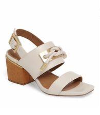 Calvin Klein Jilline-Soft White Square-Knot Womans Leather Sandals,Sz9.5M $79.99